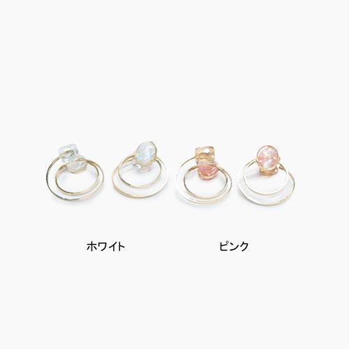 Air cuff -エアカフ-ダブルフープ・クリアラメ&スクエアビジュー【アレオリ】