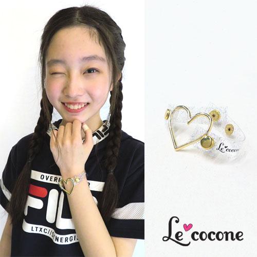 "★70%OFF★""LE COCONE""ロゴ×クリアラメシリーズブレスレット【ルココネ】"