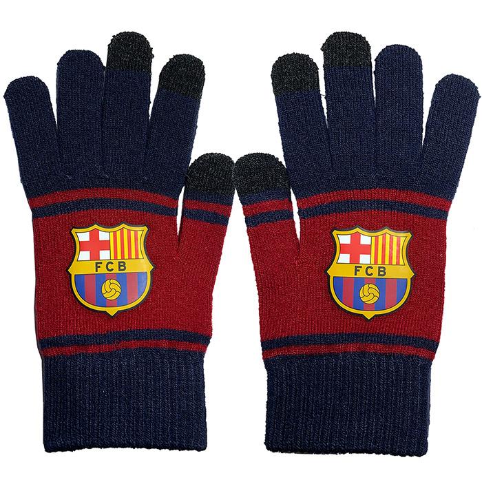 FCバルセロナ グッズ「FCバルセロナ スマホ対応手袋」(bcn34376)