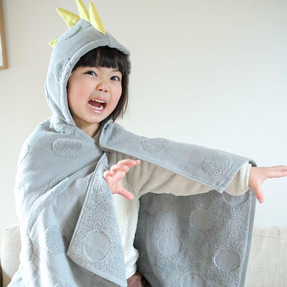 [kontex]フード付きバスタオル(恐竜)