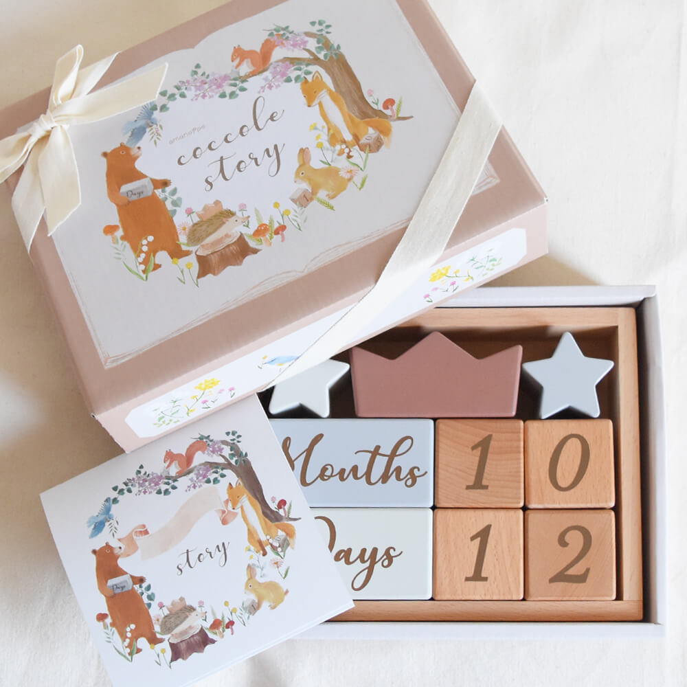 ラトル&ここりーギフトセット-pastel toy-[amanoppo] 出産祝い ラッピング・メッセージカード付