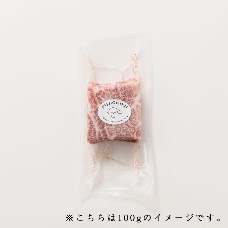 ふじ馬刺し三枚バラ大トロ(メン)100g タレ・生姜付【希少部位】