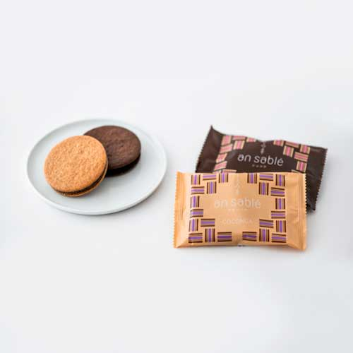 an sableナチュール・ショコラ(各8枚)an land広島レモン・抹茶ピスタチオ(各3個)
