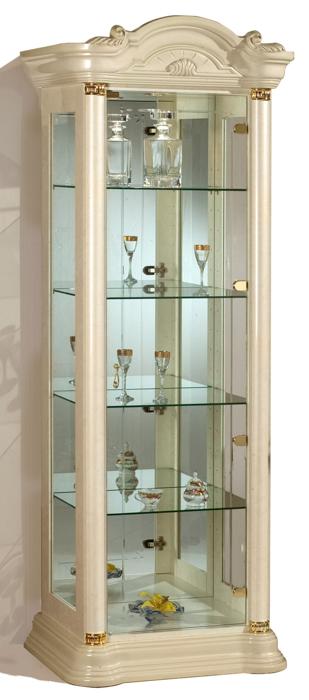 Saltarelli サルタレッリ Florence フローレンス 1Door Glass Cupboard(Ivory)