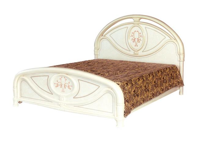 Saltarelli サルタレッリ Florence フローレンス Single Bed Frame(Ivory)+JP1ウッドファンデーション(脚6本)
