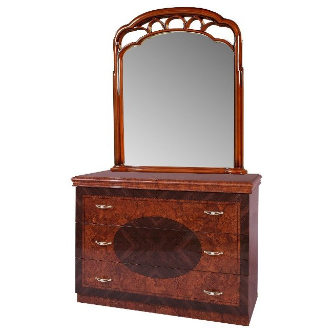 Saltarelli サルタレッリ Florence フローレンス Single Dresser + Mirror(Walnut)