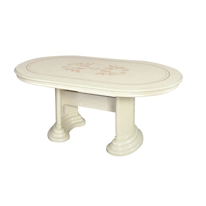 Saltarelli サルタレッリ Florence フローレンス Extensible Dining Table(Ivory)