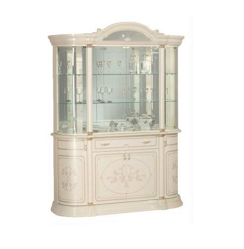 Saltarelli サルタレッリ Florence フローレンス 4Doors Glass Cupboard(Ivory)