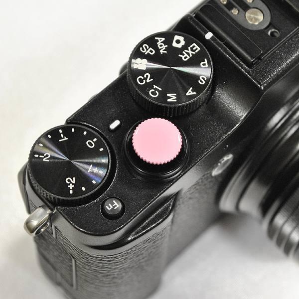 【ネジ式】 オリジナルレリーズボタン 直径10mm ピンク|R-10-13<br>【DM便送料当社負担|こちらの商品はDM便にて発送いたします/代引き・日時指定不可】