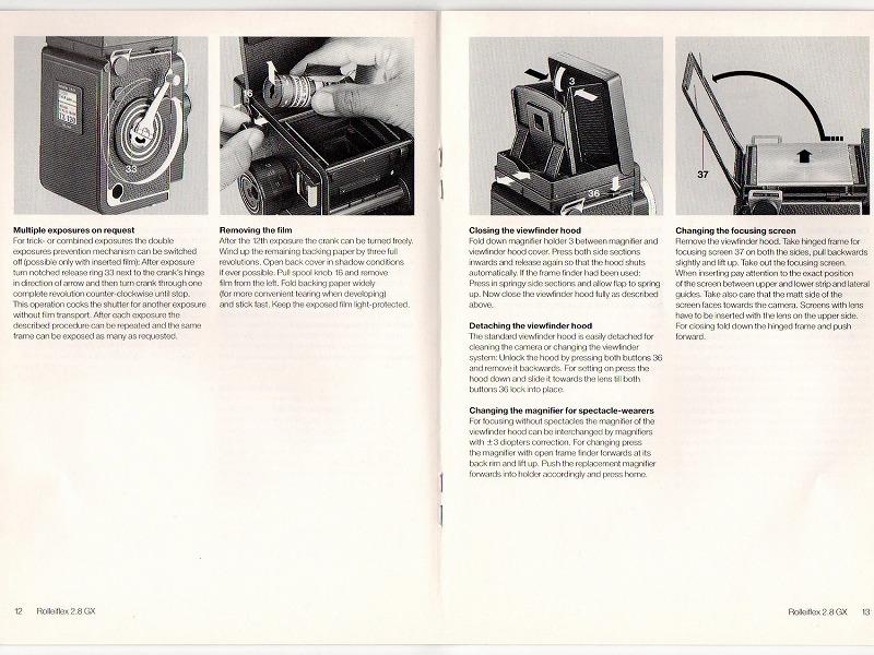Rollei(ローライ) Rolleflex 2.8GX (英文)  取扱説明書 (TO-0527)<br>【DM便発送商品/送料当社負担】