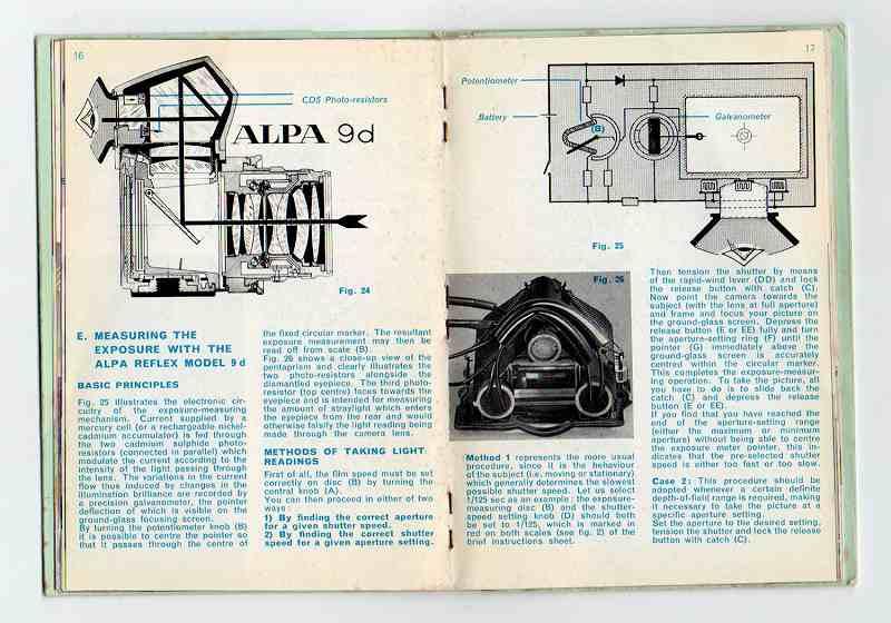ALPA(アルパ) REFLEX 9d and 9f 取扱説明書 (TO-0503)<br>【DM便発送商品/送料当社負担】