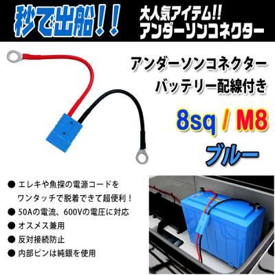 アンダーソンコネクター配線付き8sq M8 ブルー