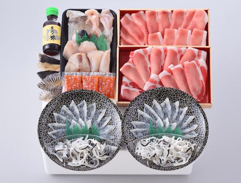 海と丘の豚しゃぶ食べ比べ(2-3人前)