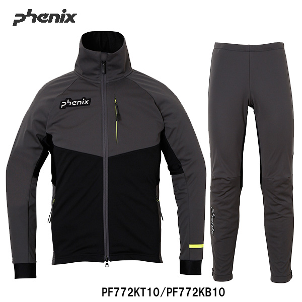 【クロスカントリースキー店舗】  PHENIX フェニックス  オーバージャージ PH XCストレッチバックジャケット/タイツ上下セット 17-18モデル PF772KT10/PF772KB10