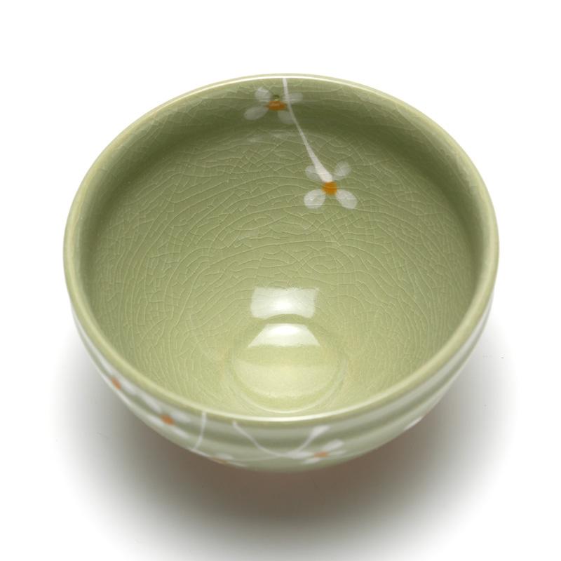 美濃焼 抹茶碗 ヒワ小茶碗