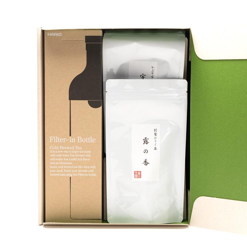 フィルターインボトルとほうじ茶・玄米茶の水出し冷茶セット