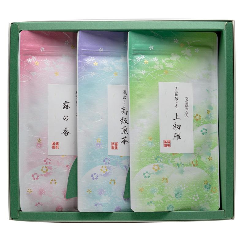 【お歳暮】玉露かりがね・煎茶・ほうじ茶のギフト<100g×3本>
