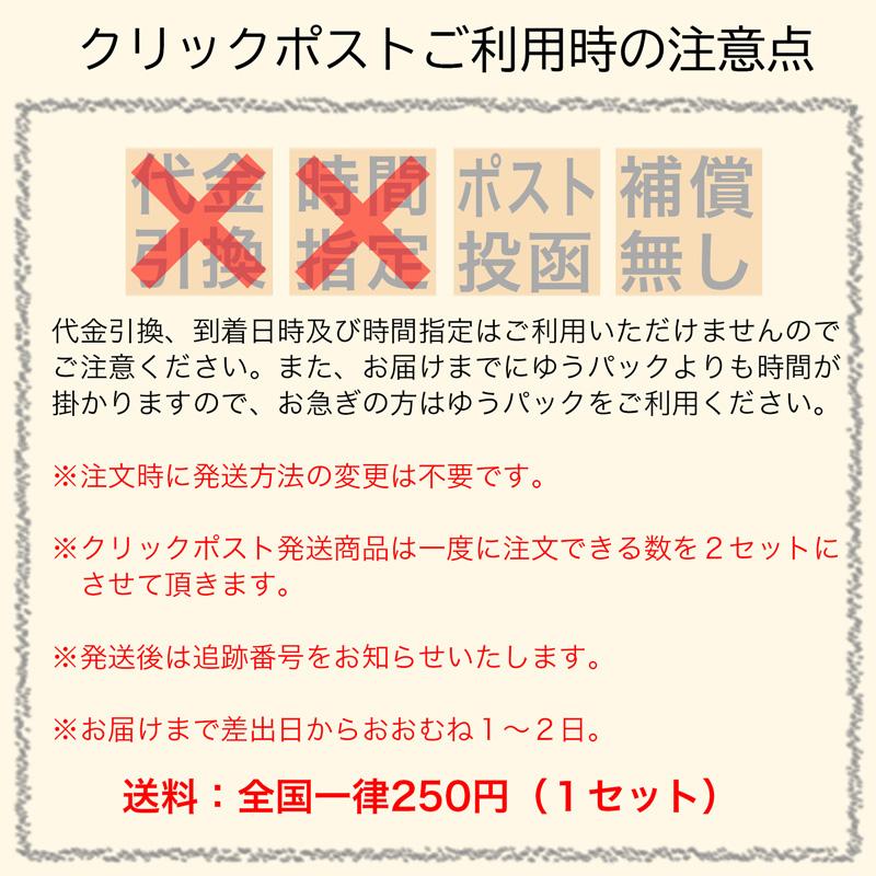ゆうパケット発送(100g入り商品 3本まで)