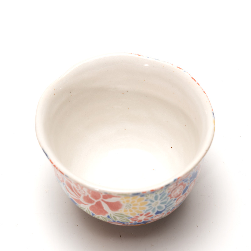 美濃焼 泉文四季友禅青皿付一服碗