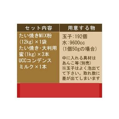 たい焼きミックス粉 12Kg セット たい焼きレギュラーサイズ用