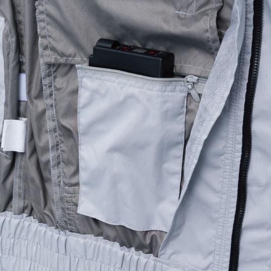 村上被服 V8308 半袖フードジャケット・バッテリーセット