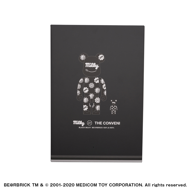 MILKY THE CONVENI BLACK MILKY BE@RBRICK 100%&400%