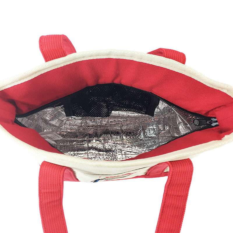 ペコちゃん保冷付きミニトートバッグ(レッド)