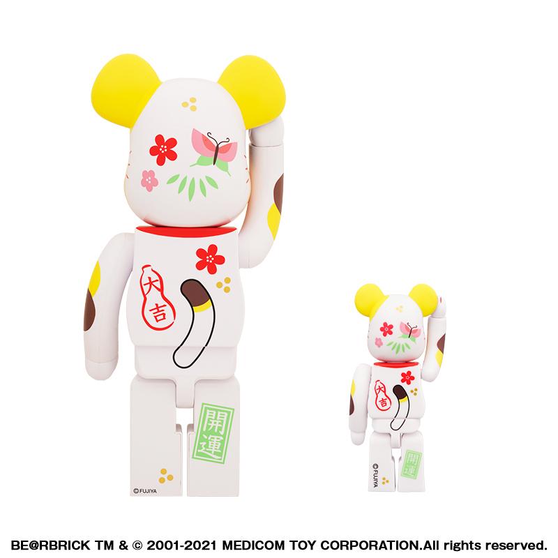 【抽選販売終了】BE@RBRICK 招き猫 ペコちゃん 福 100% & 400%