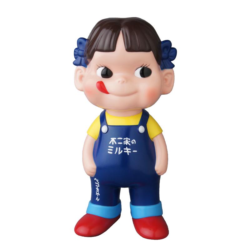【完売】不二家ソフビコレクション ペコちゃん (青オーバーオール)