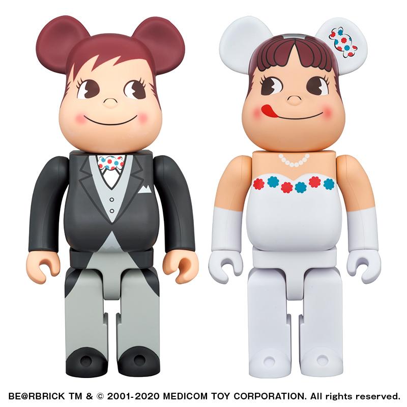 【完売】BE@RBRICK  ウェディング ペコちゃん & ポコちゃん 400% 2体セット