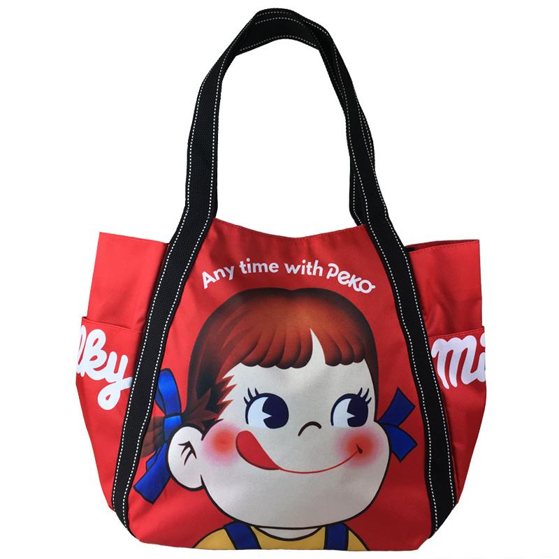 【販売終了】ペコちゃんバルーントートバッグ(レッド)