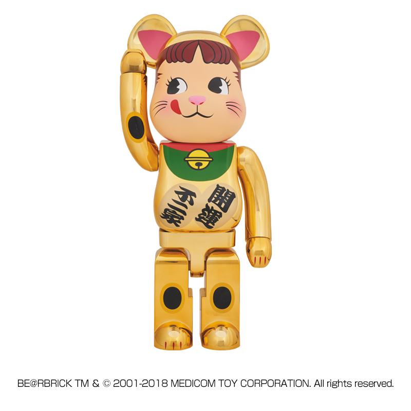 【抽選販売終了】BE@RBRICK 招き猫 ペコちゃん 金メッキ 1000%
