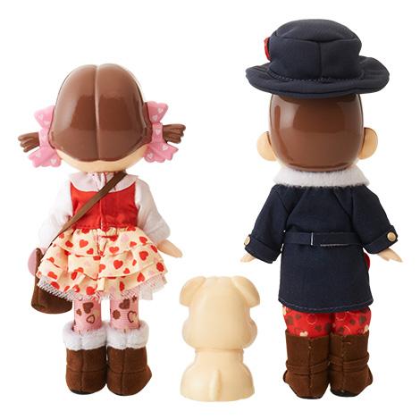 ハートのペコポコ&ドッグ人形