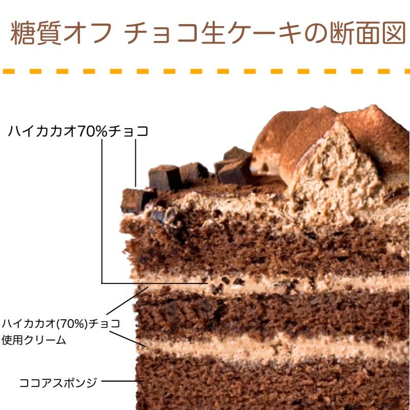 糖質オフ チョコ生ケーキ