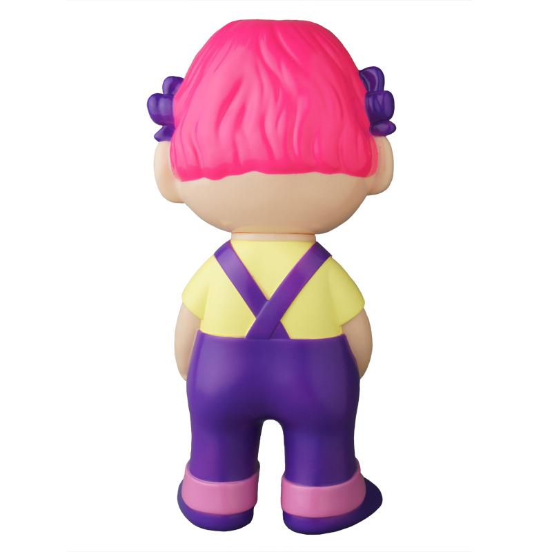 【抽選販売終了】不二家ソフビコレクション  ペコちゃん(紫オーバーオール)