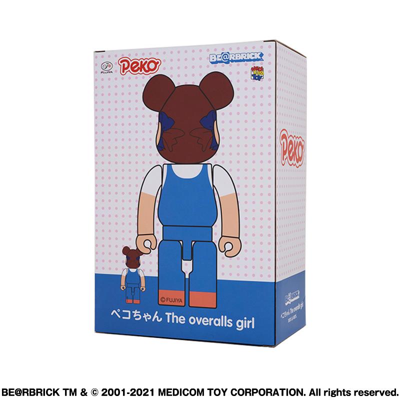 【抽選販売終了】BE@RBRICK ペコちゃん The overalls girl 100% & 400%