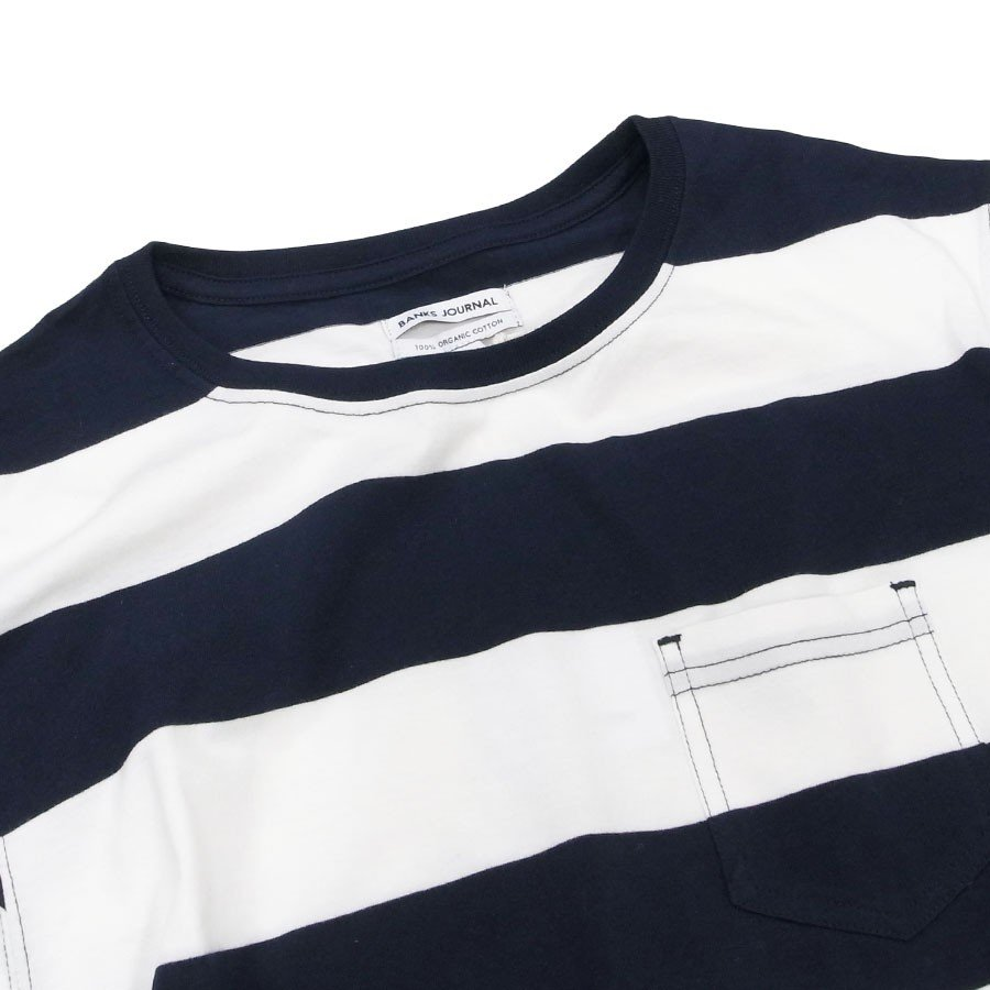 BANKS バンクス メンズ レディース ユニセックス 半袖Tシャツ ボーダー しましま カットソー オーガニックコットン VIBES TEE