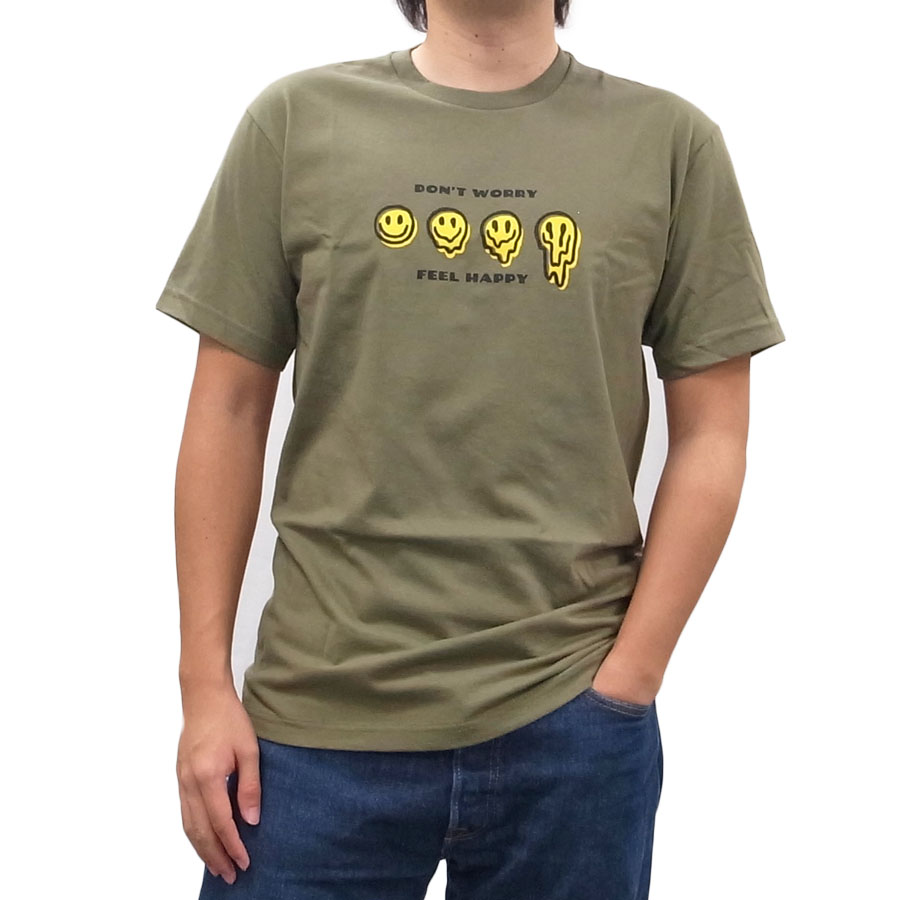 BRIXTON ブリクストン 半袖 Tシャツ クルーネック カットソー MELTER S/S TEE 2色 スマイル ホワイト 白 オリーブ