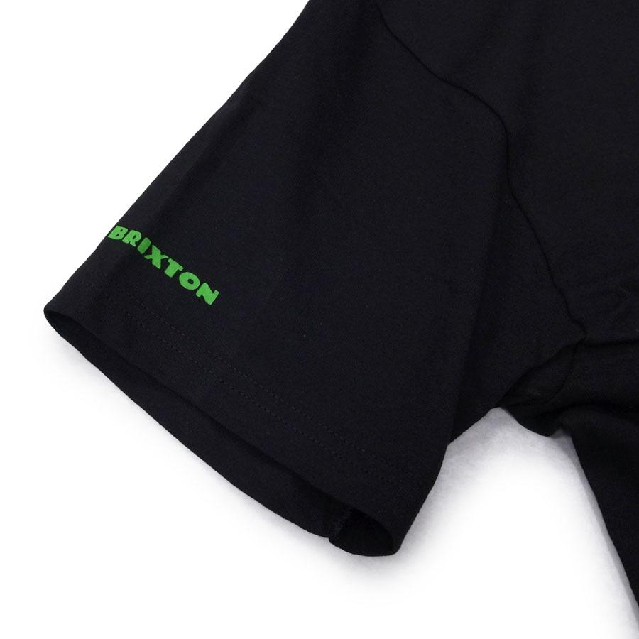 BRIXTON ブリクストン 半袖 Tシャツ クルーネック カットソー MELTER S/S TEE スマイル ブラック 黒