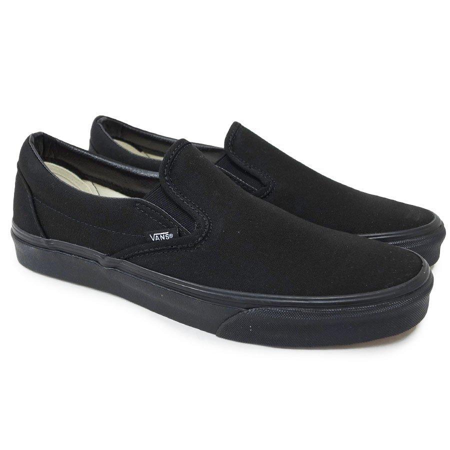 VANS スニーカー バンズ ヴァンズ シューズ スリッポン CLASSIC SLIP-ON BLACK BLACK ブラック 黒
