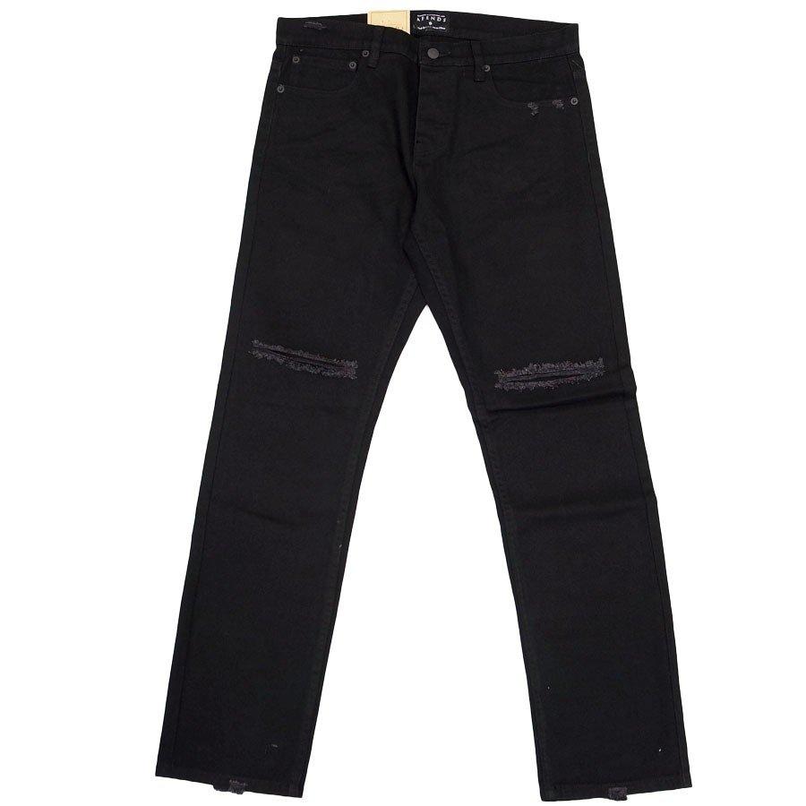 AFENDS アフェンズ サーフ メンズ デニムパンツ ジーパン Gパン ダメージ スキニー スリム ブラック 黒 BLACK BEAT DEADBEAT SLIM FIT