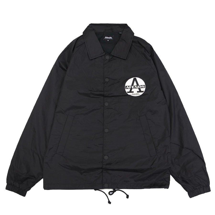 AFENDS アフェンズ サーフ REGISTER COACH JACKET BLACK コーチジャケット アウター 上着 ブラック 黒