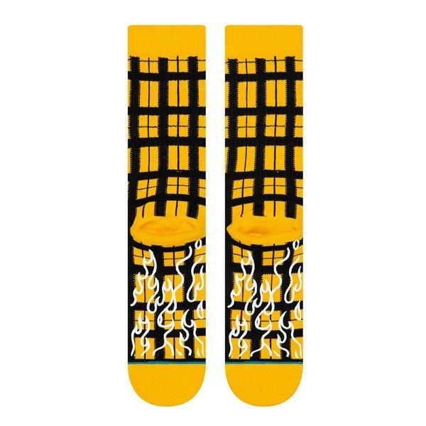 STANCE SOCKS MENS 靴下 スタンス ハイソックス メンズ スケート BURNING UP SOCKS YELLOW イエロー 黄色