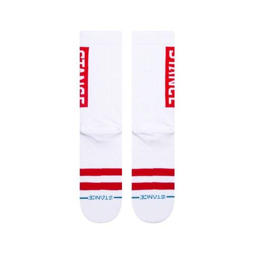 STANCE SOCKS MENS 靴下 スタンスソックス メンズ スケート OG SOCKS WHITE RED ホワイト 白 レッド 赤