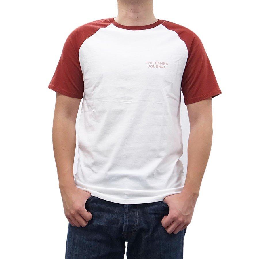 BANKS バンクス メンズ レディース ユニセックス 半袖Tシャツ ラグラン カットソー ブラック 黒 ホワイト 白 オーガニックコットン ROADY TEE