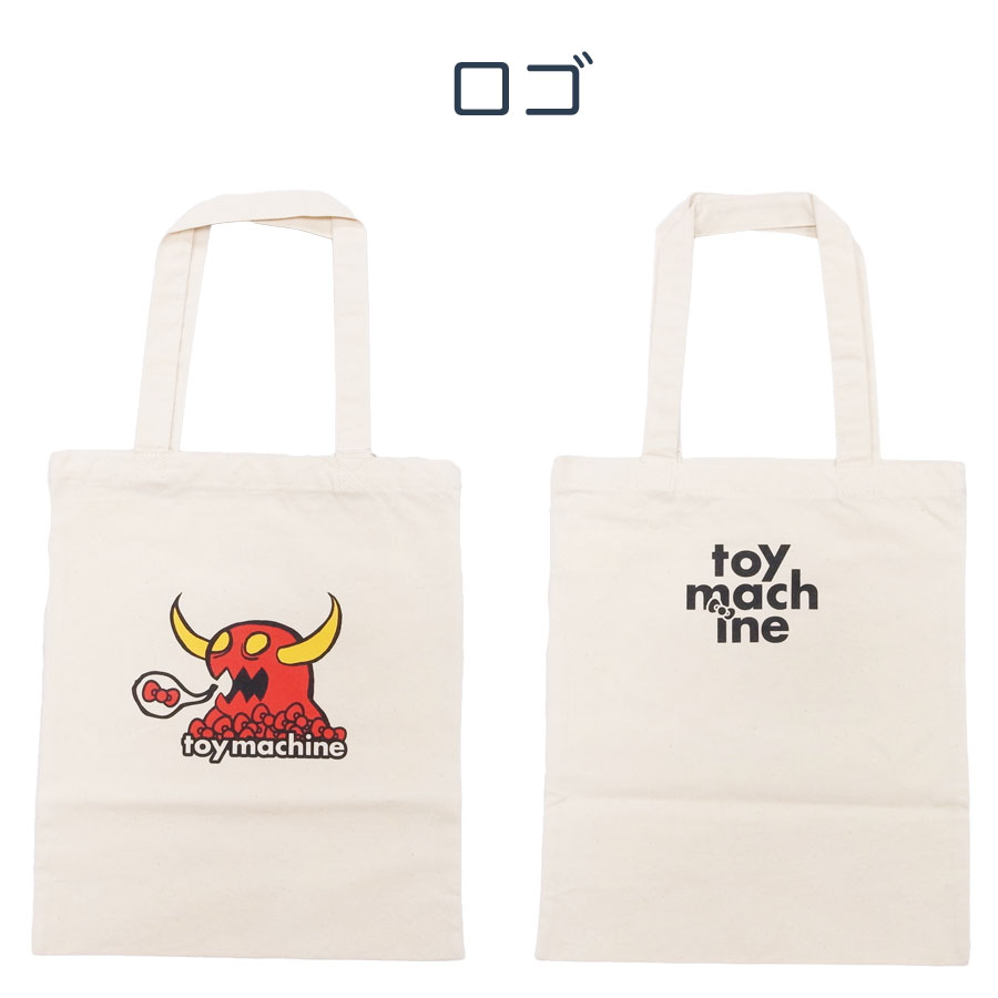 TOY MACHINE トイマシーン KITTY ハローキティ メンズ レディース キッズ TOTE BAG 鞄 トートバッグ
