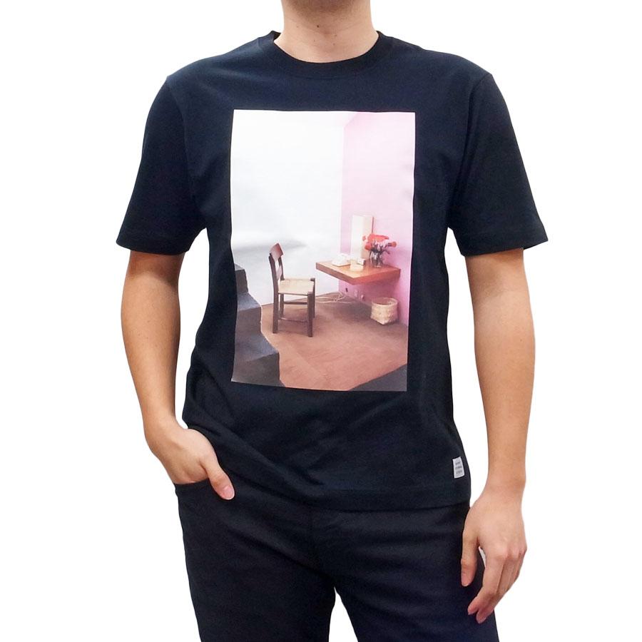 BANKS バンクス メンズ レディース ユニセックス 半袖Tシャツ カットソー オーガニックコットン ZAK BUSH STILL LIFE ブラック 黒