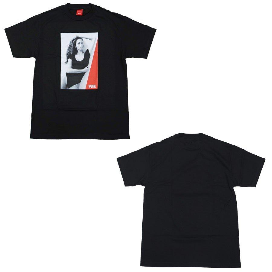 V/SUAL ヴィジュアル ビジュアル TRIANGLE TEE 2色 半袖Tシャツ カットソー 黒 ブラック 白 ホワイト
