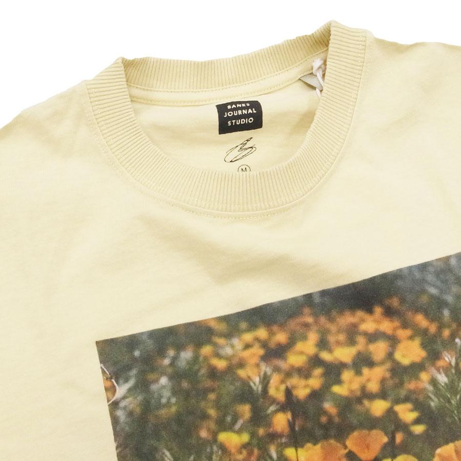 BANKS バンクス メンズ レディース ユニセックス 半袖Tシャツ カットソー オーガニックコットン ZAK BUSH FOLWERS イエロー 黄色