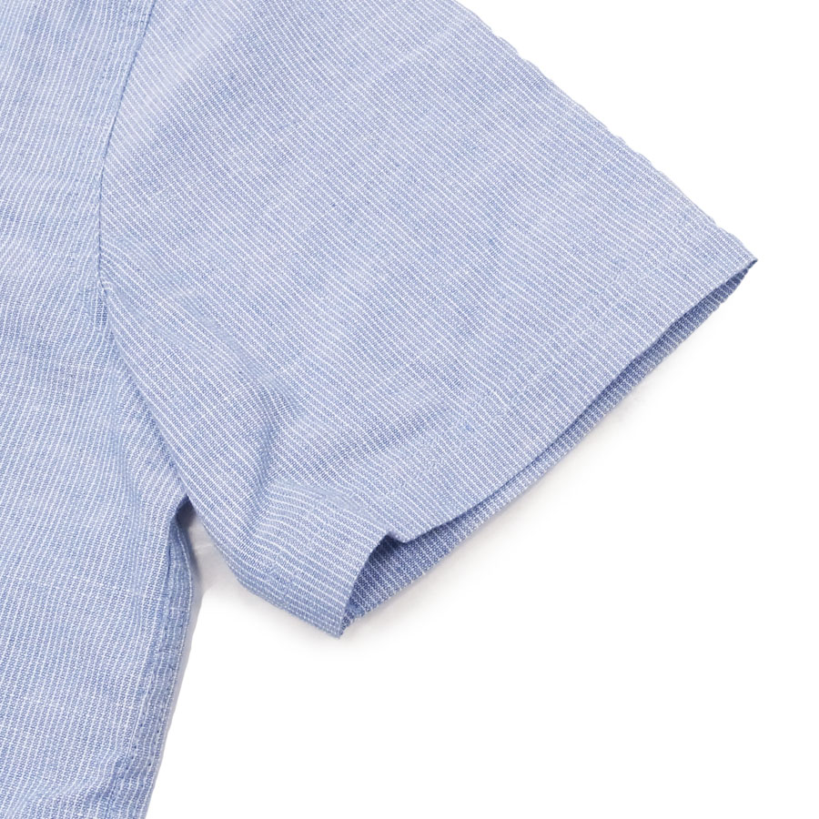 BANKS バンクス メンズ レディース ユニセックス 半袖シャツ 柄シャツ  YESTERDAY BLUE FOG ブルー 青